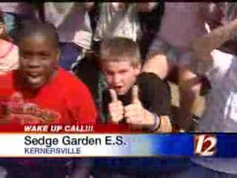 Wxii 12 wake up call sedge garden elementary school youtube Sedge garden elementary school