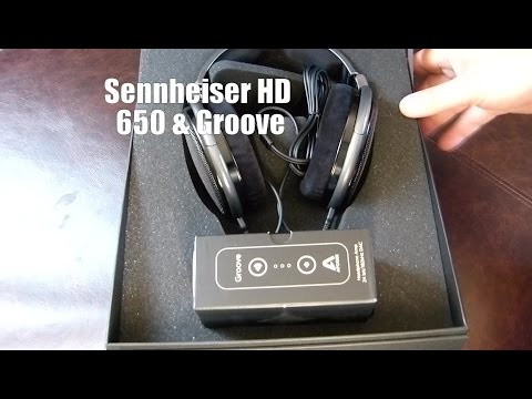 Sennheiser HD 650 and Apogee Groove Unboxing