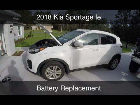 DIY 2018 Kia Sportage Battery Replacement