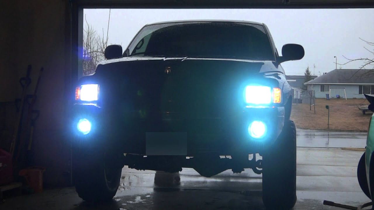 Lifted Dodge Ram 8000k Hid S High Low Fog Lights On At