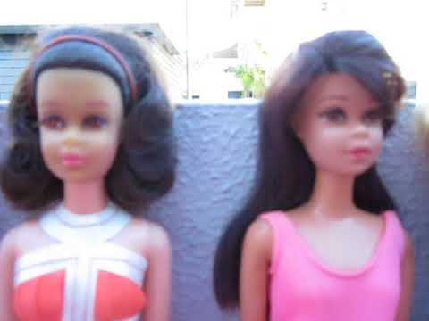 Vintage ponytail barbies,A/A Francie,Rare Malibu Francie,Midge,Truly Scrumptious Barbies n Friends