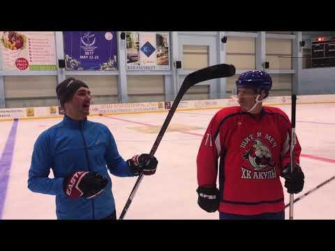 Gor Vardanyan was checking on hockey practice in Yerevan