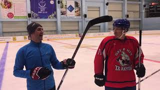Gor Vardanyan was checking on hockey practice in Yerevan