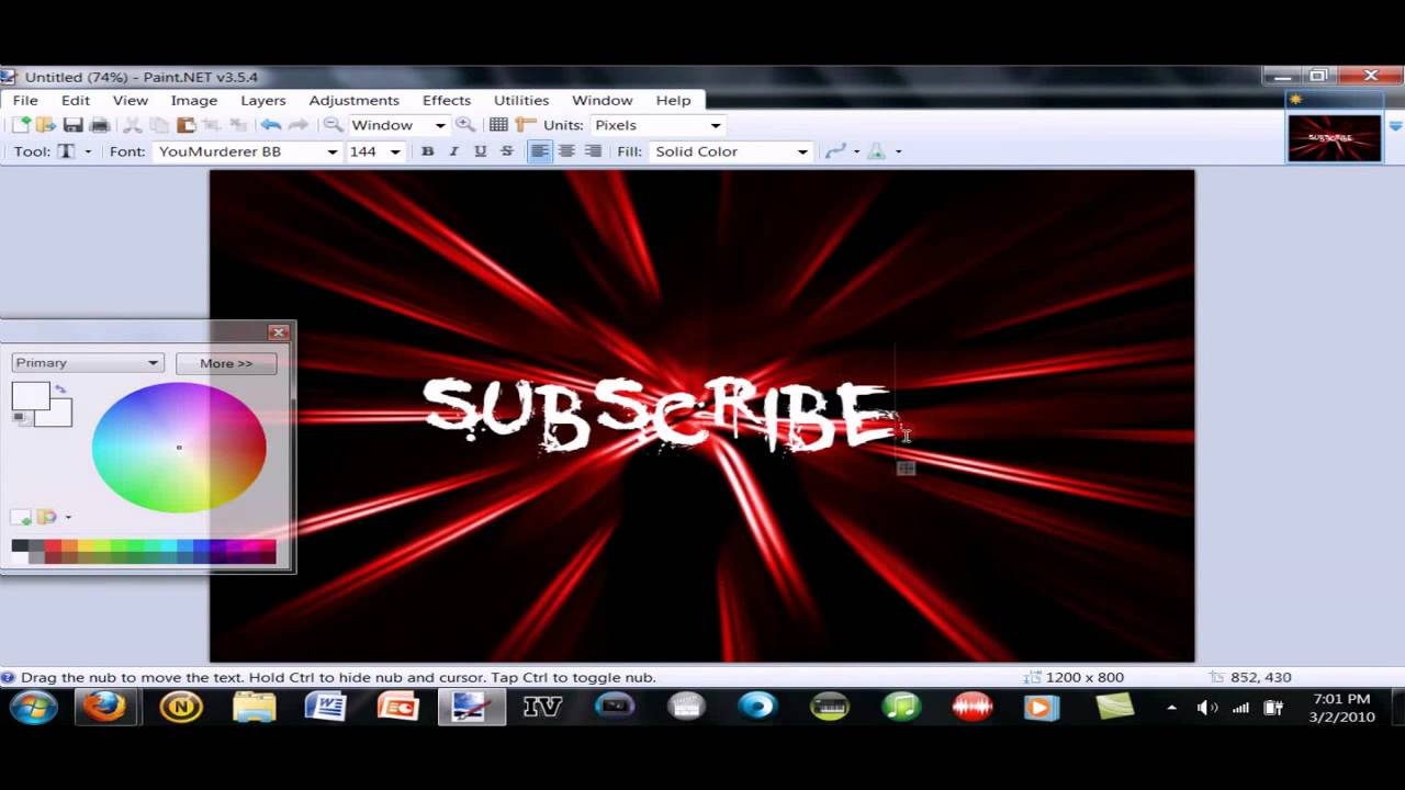How To Make Your Own Custom Wallpaper (free) [My First YouTube Video] - YouTube