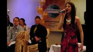 "Musical Performance ""In this LIfe"" by Katherine Akele at Keira Toastmasters 2 of 2"