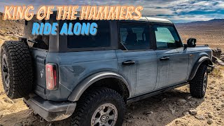 2021 King of the Hammers! Ride along footage in a 21 Ford Bronco 4-door Badlands 2.7 NO Sasquatch