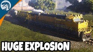 MASSIVE ON RAILS TRAIN EXPLODES | Train Mechanic Simulator Gameplay 2017