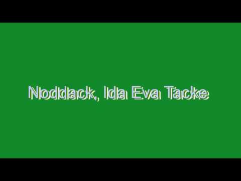 How to Pronounce Noddack, Ida Eva Tacke