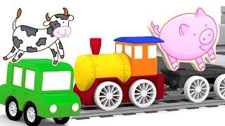 Мультфильмы про машинки - 4 машинки - Собираем пазлы - Животные