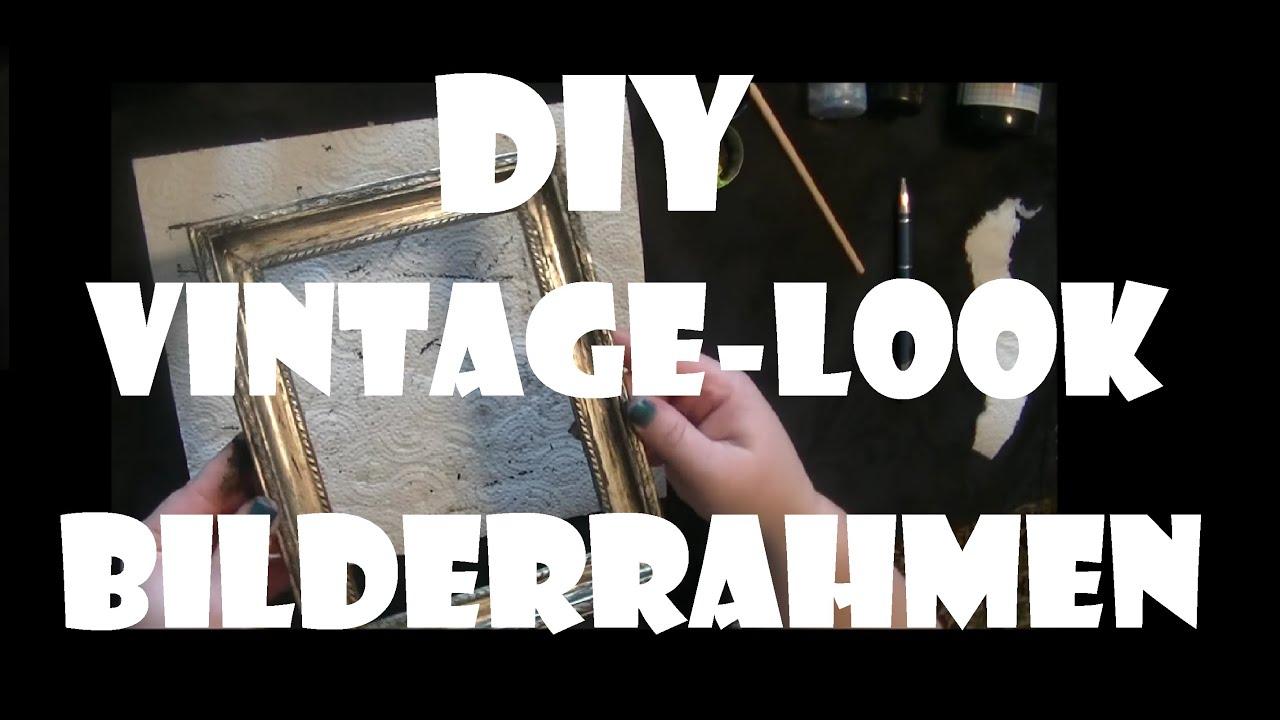 DIY: Vintage-Look Bilderrahmen - YouTube