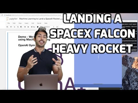 Landing a SpaceX Falcon Heavy Rocket