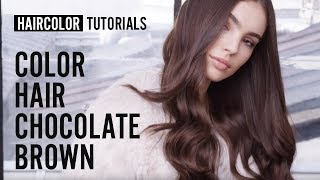 How to do the chocolate brown haircolor? by Bruno Dviana | L'Oréal Professionnel tutorials