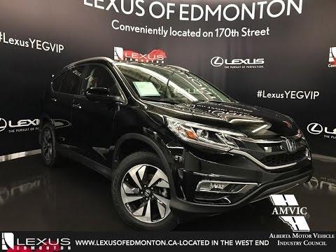 Used 2015 Black Honda CR-V AWD Touring In Depth Review / Fort Saskatchewan Alberta