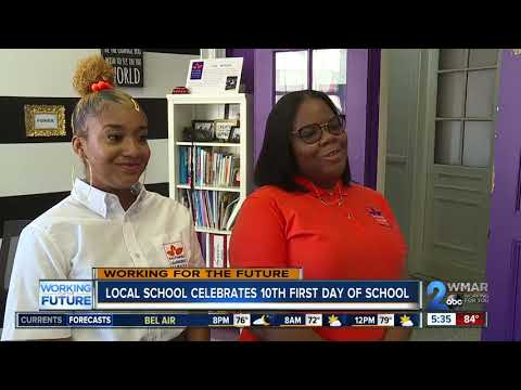 Baltimore Leadership School for Young Women celebrates 10th first day of school