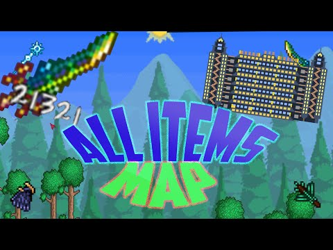 Terraria ALL ITEMS MAP for ios/android 1.2.4 REALLY HAS ALL THE ITEMS!!