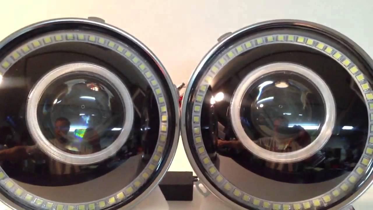 7 Quot Bi Xenon 35w Projector Headlight Retrofit Jeep Wrangler
