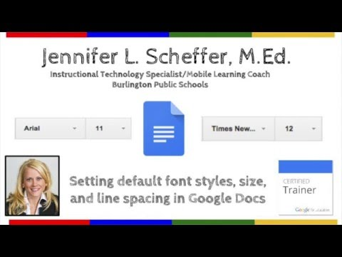 Changing Default Styles In Google Docs