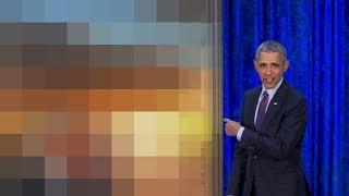 Obama unveils portrait for Putin