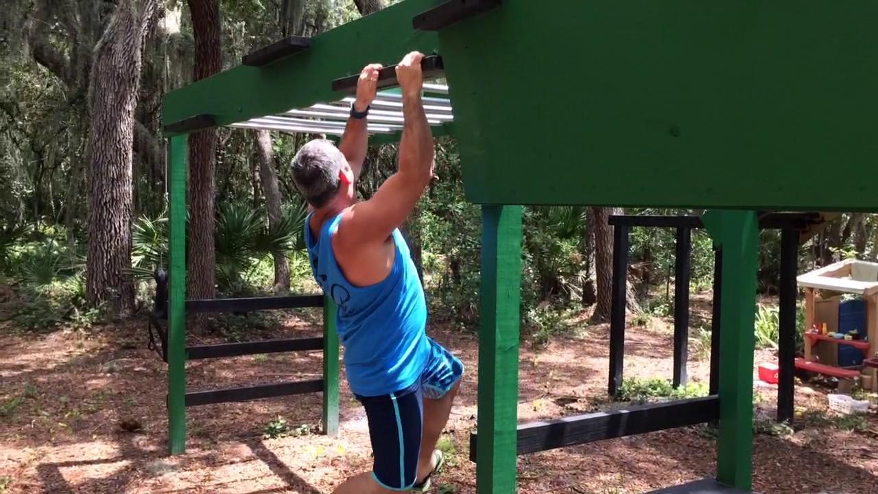 cliffhanger training for american ninja warrior on our backyard