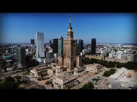 Warsaw downtown in summer 2017