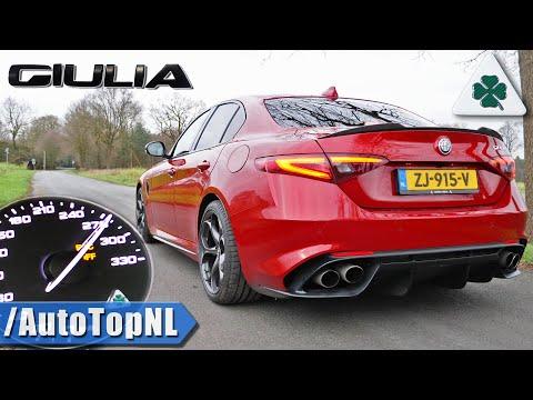 ALFA ROMEO Giulia QUADRIFOGLIO | 0-270km/h ACCELERATION & EXHAUST SOUND by AutoTopNL