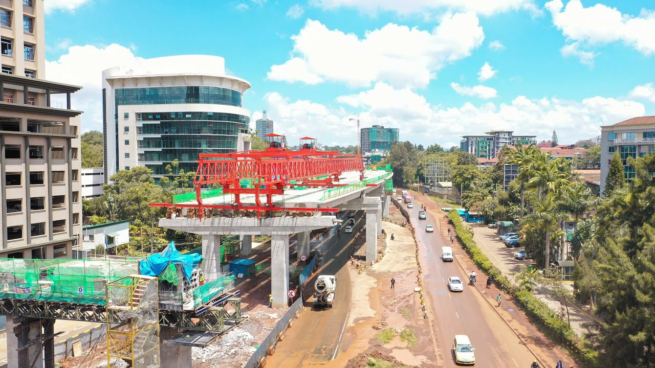 NAIROBI EXPRESSWAY (WESTLANDS AREA) TAKING SHAPE