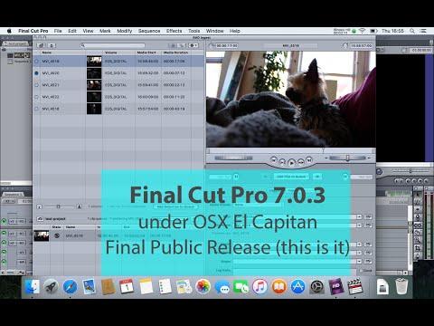 Final Cut Pro 7 / Final Cut Studio 3 install on El Capitan Final Release