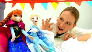 Видео для девочек. Эльза и Анна: вечеринка в замке!