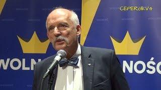 Pytania do Janusza Korwin-Mikkego w Opocznie 14.04.2018