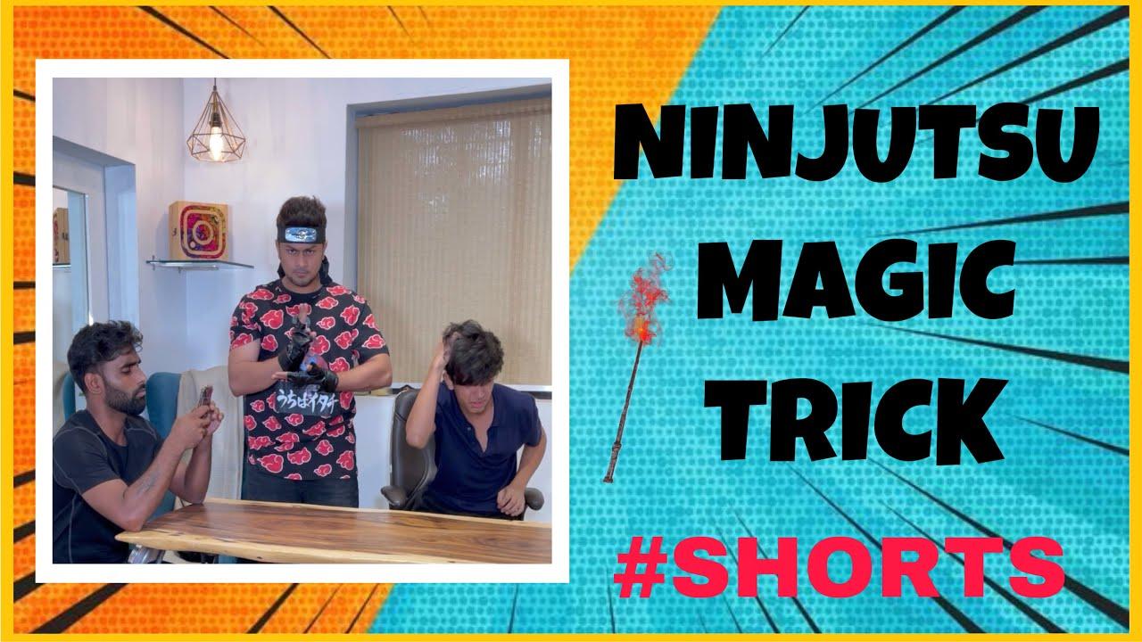 NINJUTSU MAGIC TRICK 😅 #shorts