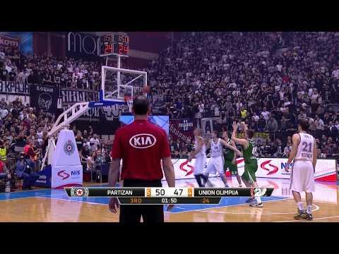 ABA Liga 2014/15, Round 17 match: Partizan NIS - Union Olimpija (10.1.2015)