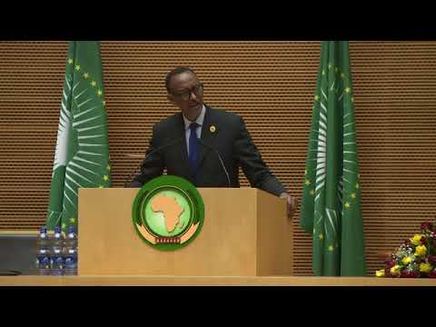 President Kagame delivers acceptance speech after being sworn-in as Chairperson of the AU.