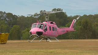 Huey Helicopter start up and take off at Casino New South Wales Australia