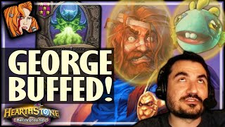 NEW PATCH FIRST GAME = EZ GEORGE! - Hearthstone Battlegrounds