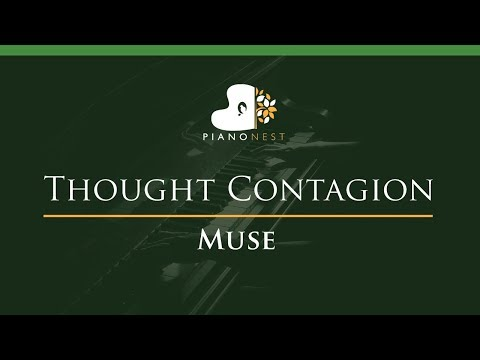 Muse - Thought Contagion - LOWER Key (Piano Karaoke / Sing Along)