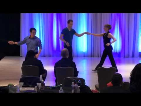 David Geukers dancing with Maria Ford, Novice ProAm Strictly at Spotlight