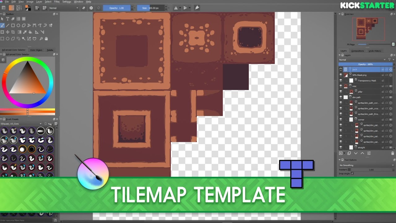 Tool top down tileset template open source youtube for Game maker templates download