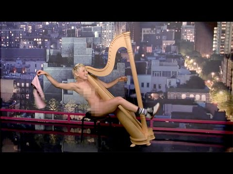 Ellen Strips for Letterman