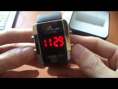 Обзор Спортивные светодиодные часы Adidas LED Watch