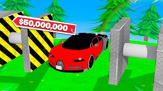 CRUSHING A $50,000,000 CAR IN ROBLOX!