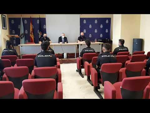 Acto de benvida aos novos policías nacionais en prácticas 23.7.21