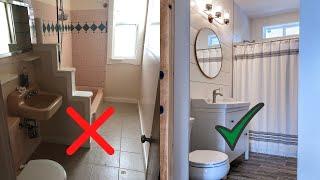 Ванная комната ДО и ПОСЛЕ ремонта.