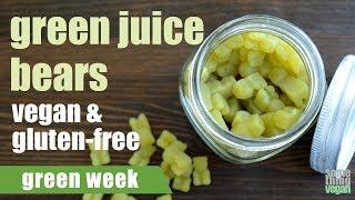 green juice bears (vegan & gluten-free) Something Vegan Green Week