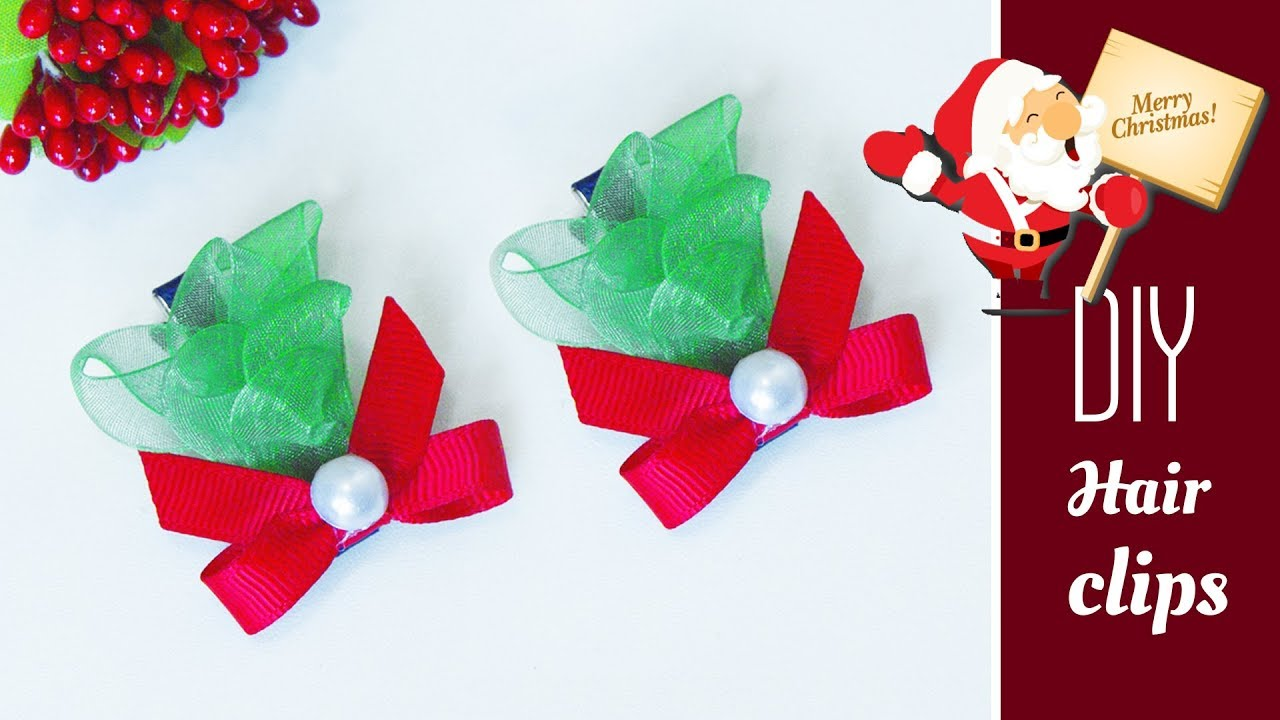 how to make christmas hair diy hair accessories