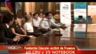 Fundación Educate recibió de Promesa 60 CPU y 25 NOTEBOOK