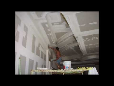 Plafones decorativos de tablaroca t krea cancun y playa for Plafones de pared para escaleras