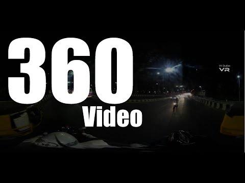 Chennai Flyover Bike Ride, 360' Virtual Reality Video