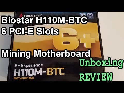 Biostar H110M-BTC 6 PCI-E Mining Motherboard Review