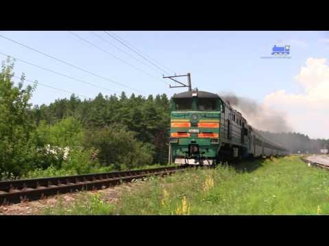 Тепловоз 2ТЭ10Ут + Дизель-поезд Д1 - Diesel Train D-1 And Locomotive 2TE10Ut