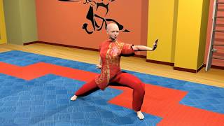 Боевая гимнастика. Ушу. Комбинации базовых упражнений. Часть 1